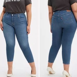 Levi's Wedgie Skinny Button Fly Jeans Size 16W